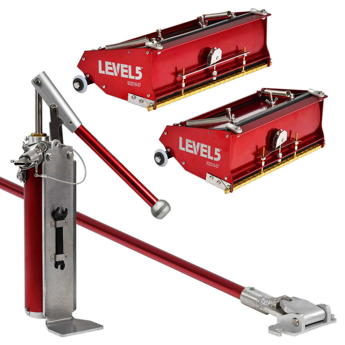 LEVEL5 10/12-Inch Drywall Flat Box Set + Handle & Pump | 4-604