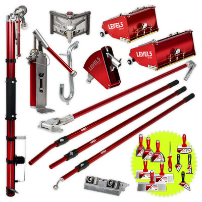 L5 Drywall Taping Tool Set with 7/10-Inch MEGA Boxes & Handles | 4-610