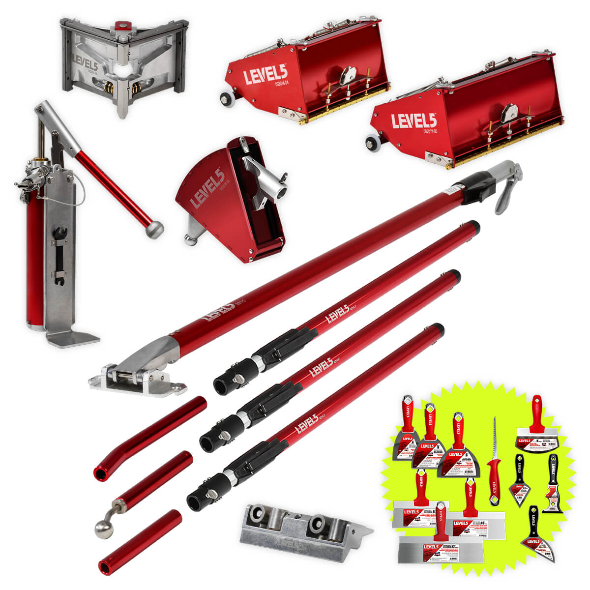 AUTOMATIC DRYWALL FINISHING SET
