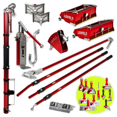 L5 Pro Drywall Taping Tool Set with 10/12 Inch Boxes + Handles | 4-620