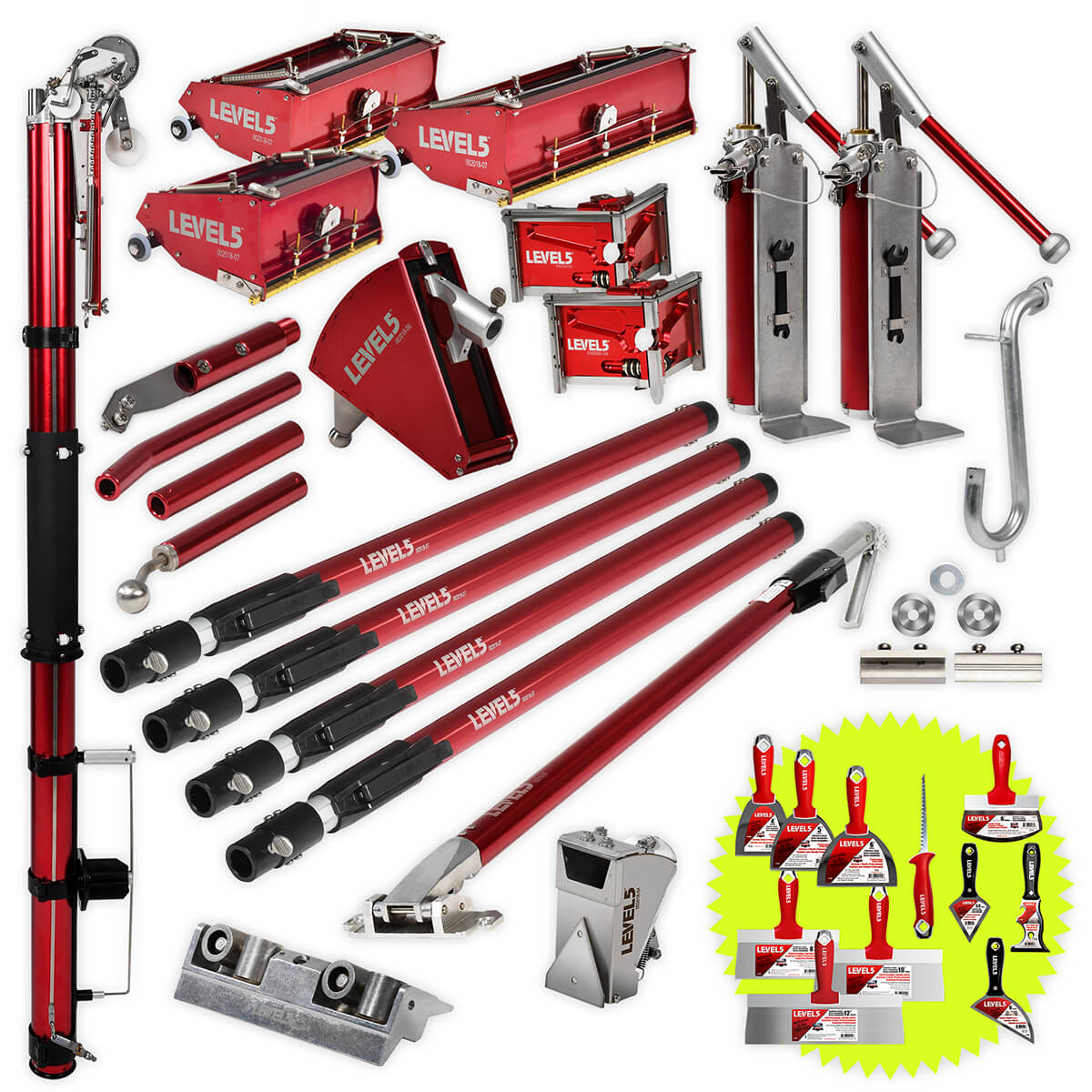 Ultimate LEVEL5 Drywall Taping Tool Set | 4-617