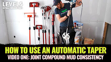 Setting Up the Best Mud Consistency for an Automatic Drywall Taper