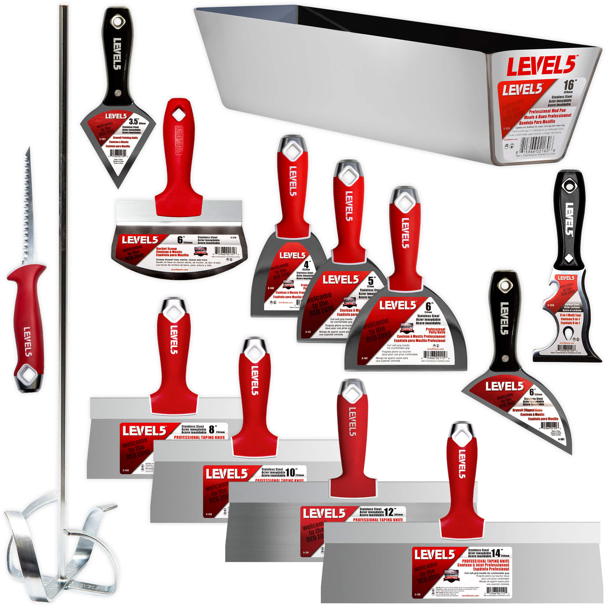 LEVEL5 Deluxe Stainless Steel Hand Tool Set | 5-609