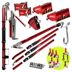 LEVEL5 Drywall Taping Tool Set | 10/12-Inch Boxes | 4-625