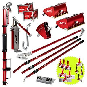 LEVEL5 Drywall Taping Tool Set | 10/12 Inch MEGA Boxes | 4-624