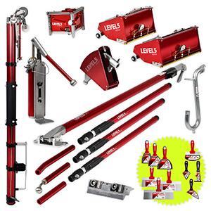 Drywall Taping Tool Set | 7/10-Inch MEGA Boxes & Ext. Handles | 4-611
