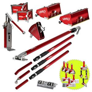 L5 Drywall Finish Set 10/12-Inch MEGA Boxes + Ext. Handle | 4-627