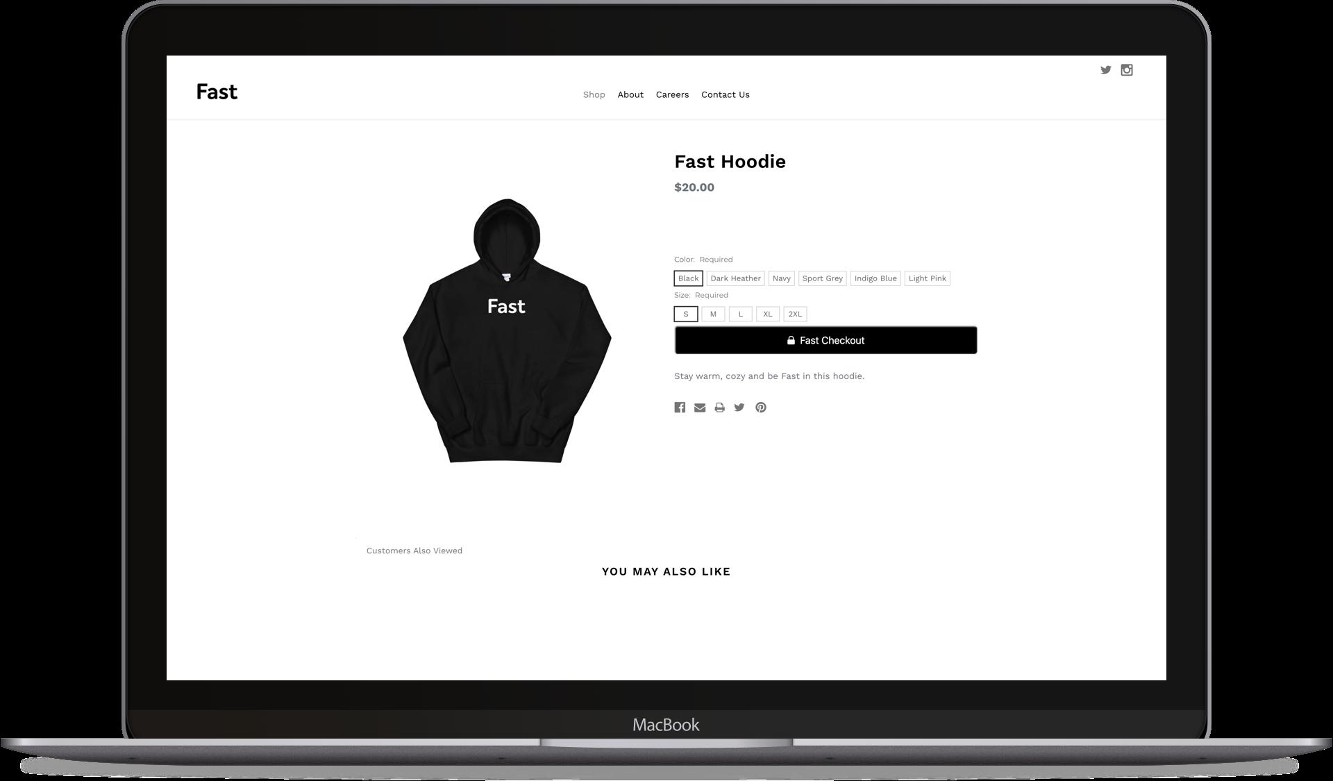 Fast Checkout desktop button