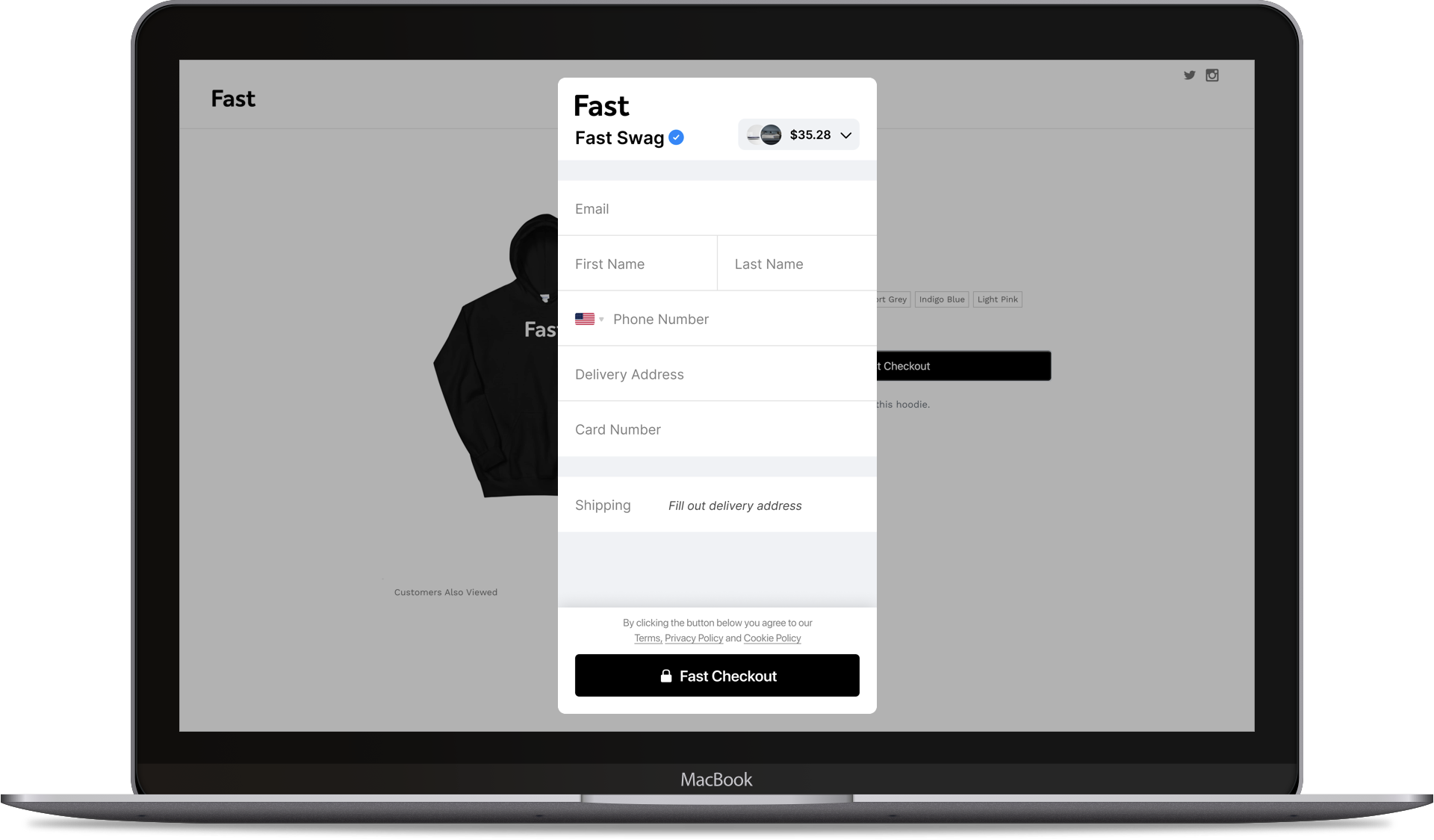 Fast Checkout desktop first time
