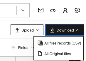 Image of the download options.
