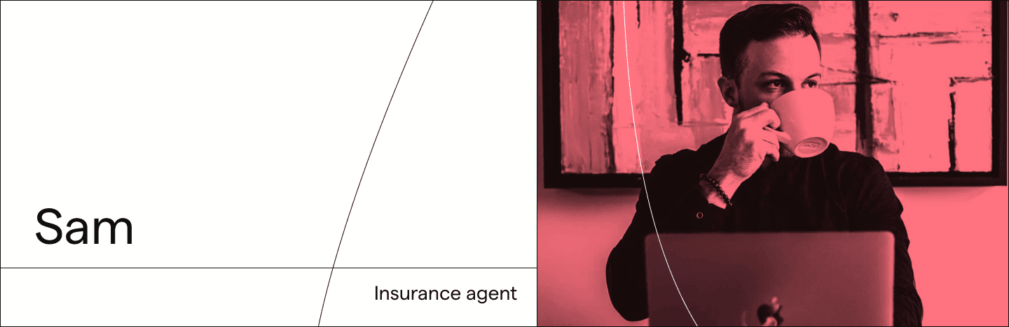 Sam, an insurance agent saving himself from manual data entry in document processing.