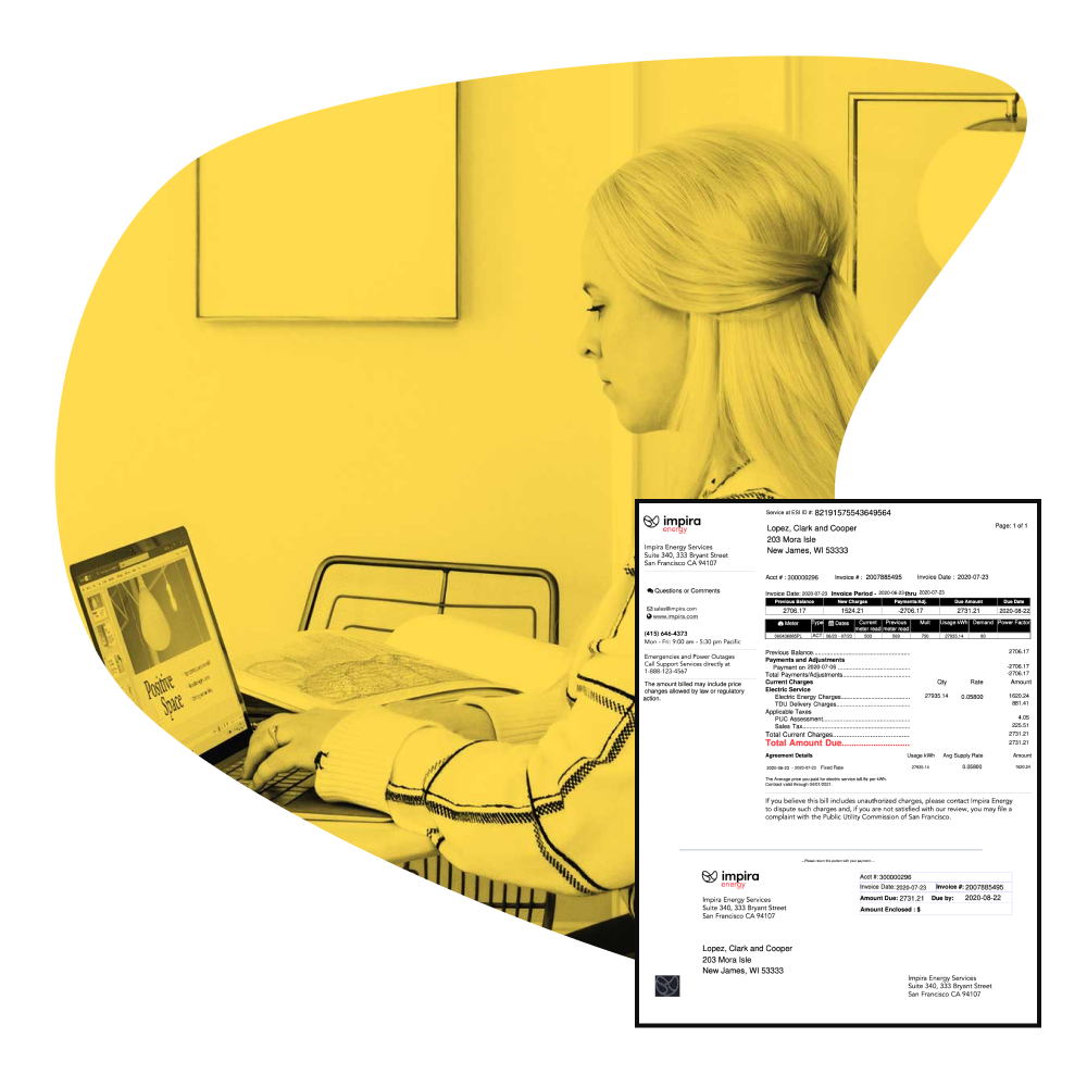 Utility auditor working on automating energy and utility bill processing with OCR, Impira AutoML