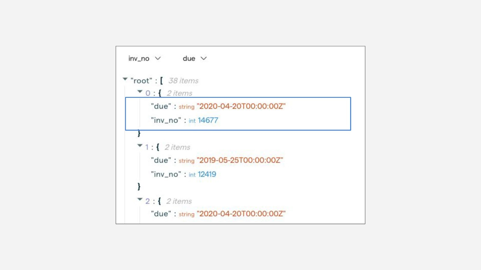 JSON result with aliased field names