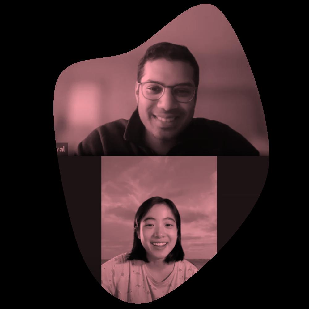 Impira CEO, Ankur Goyal, chatting with CMU Tech & Entrepreneurship interviewer, Xinru Yang