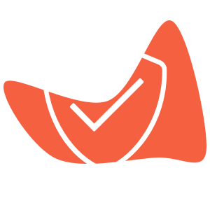 Illustration of a shield overlaying a red shape
