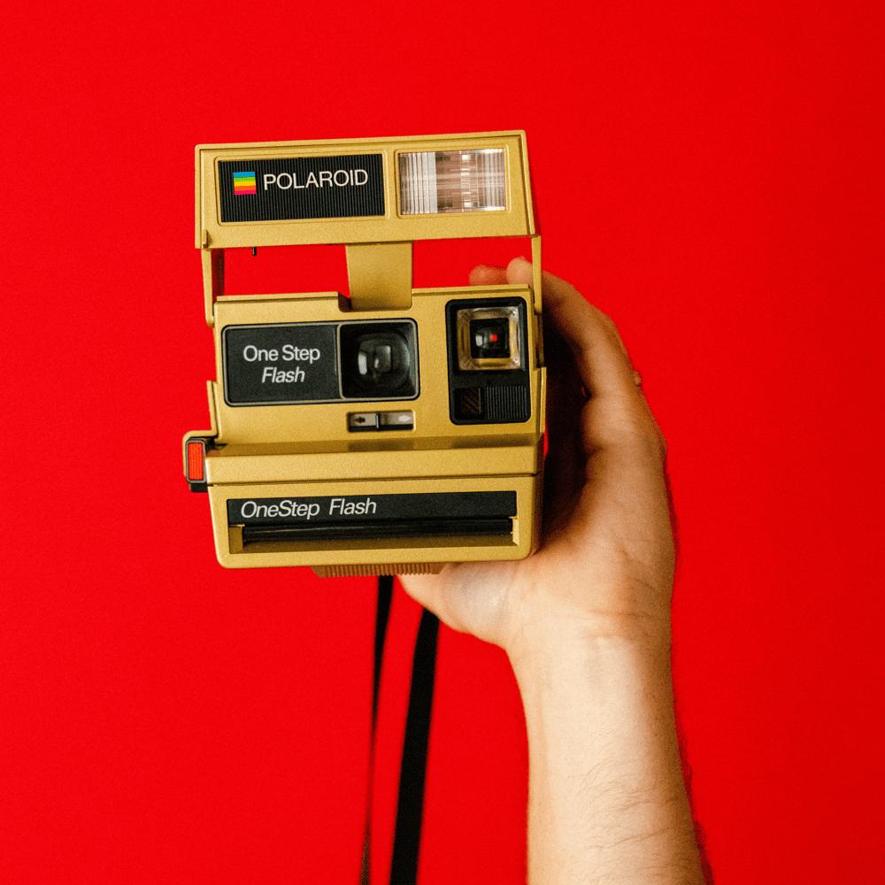 retro polaroid camera