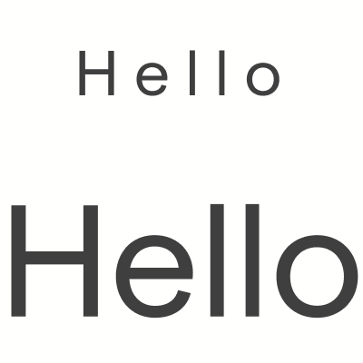 "The word ""Hello"" in two sizes"