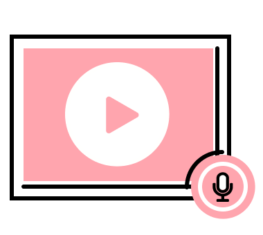 An illustration of a video play and sound