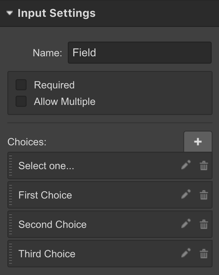Set options for the Select Field of Webflow Forms