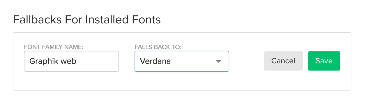 You can edit and define a specific fallback font for each of your installed custom fonts.