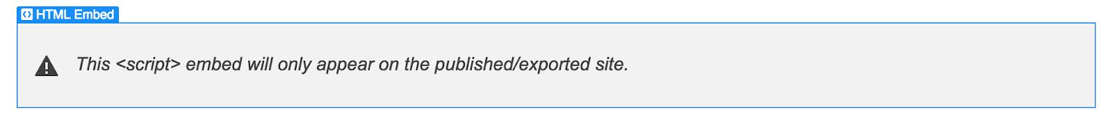 Webflow Embed placeholder