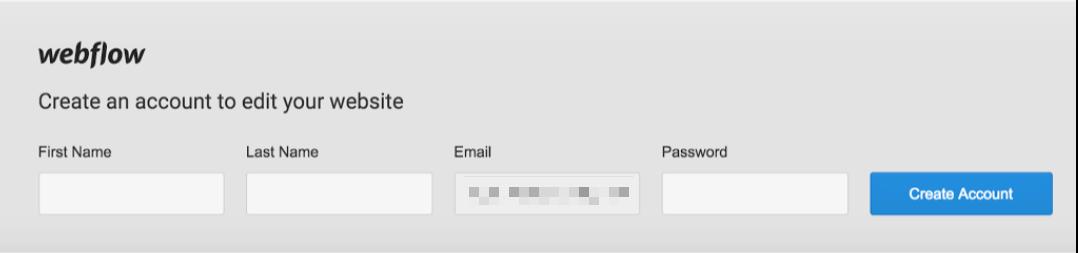 Create a Webflow Editor account