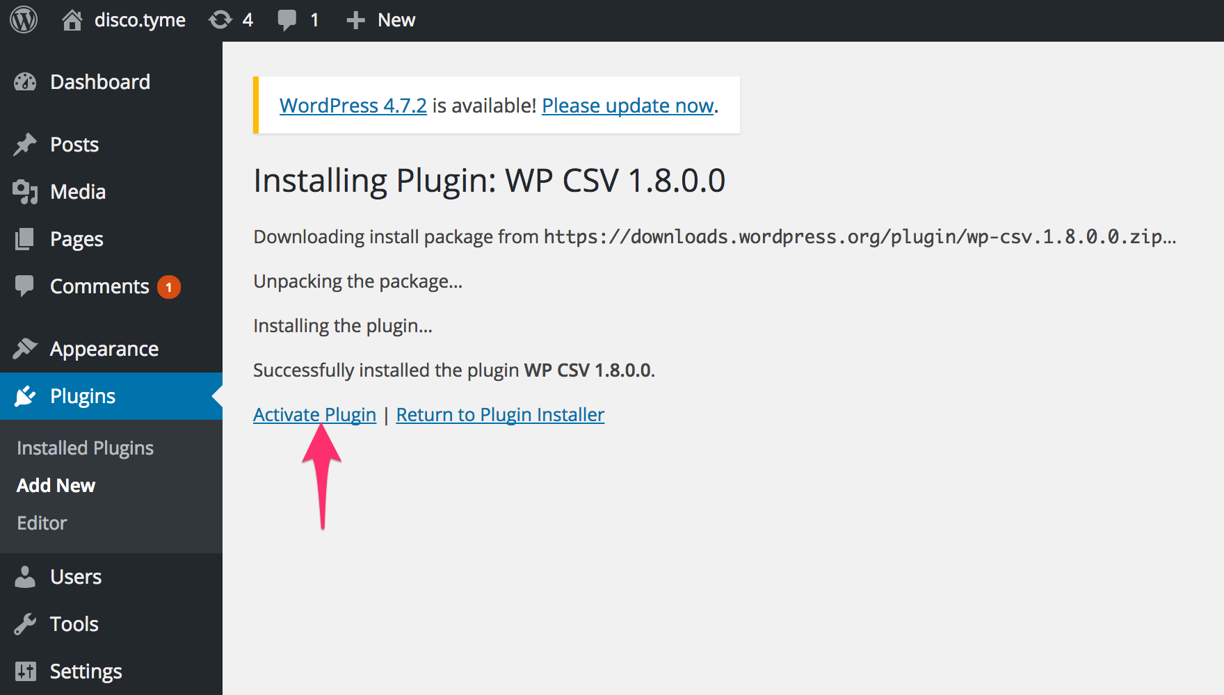 You need to activate the plugin to use it on your site.