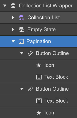 The pagination wrapper is added to the Collection list wrapper.
