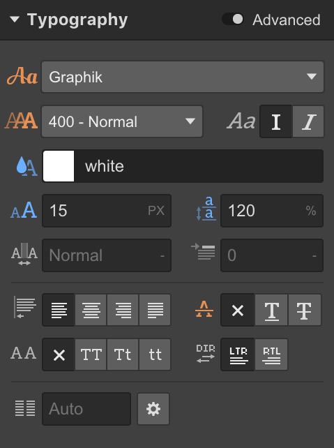Styling Typography in Webflow