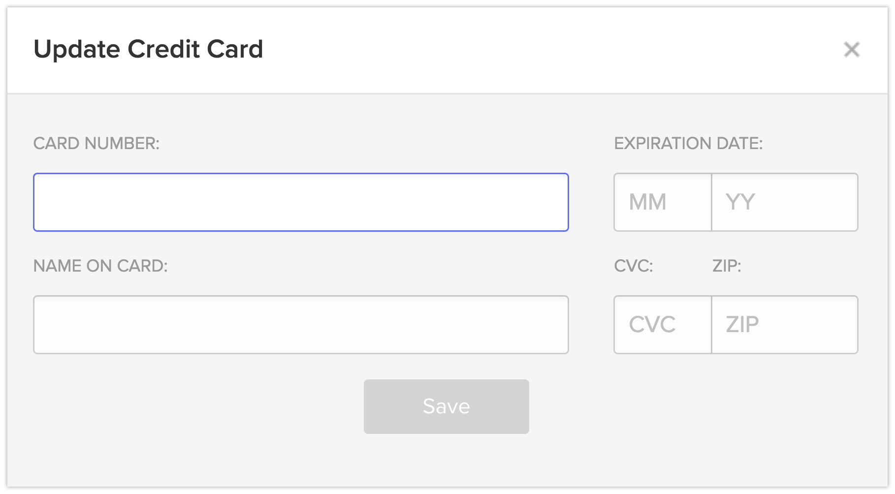 Update your credit card in Webflow