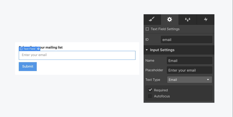 Webflow form