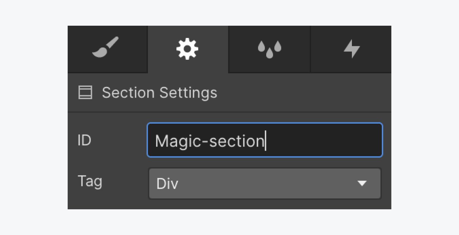 Assign an ID to the selected element
