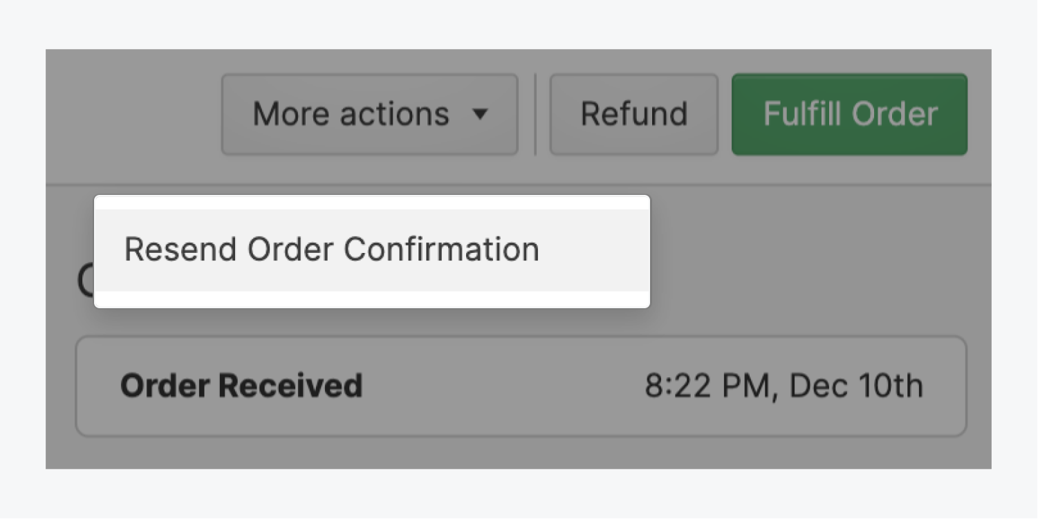 You can resend an order's confirmation email directly from within the Webflow Editor.