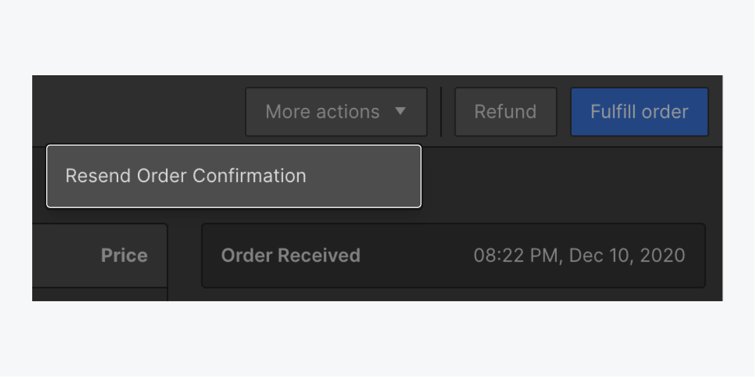 You can resend an order's confirmation email directly from within the Webflow Designer.