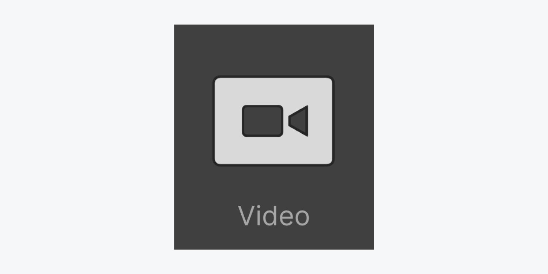 Video icon thumbnail