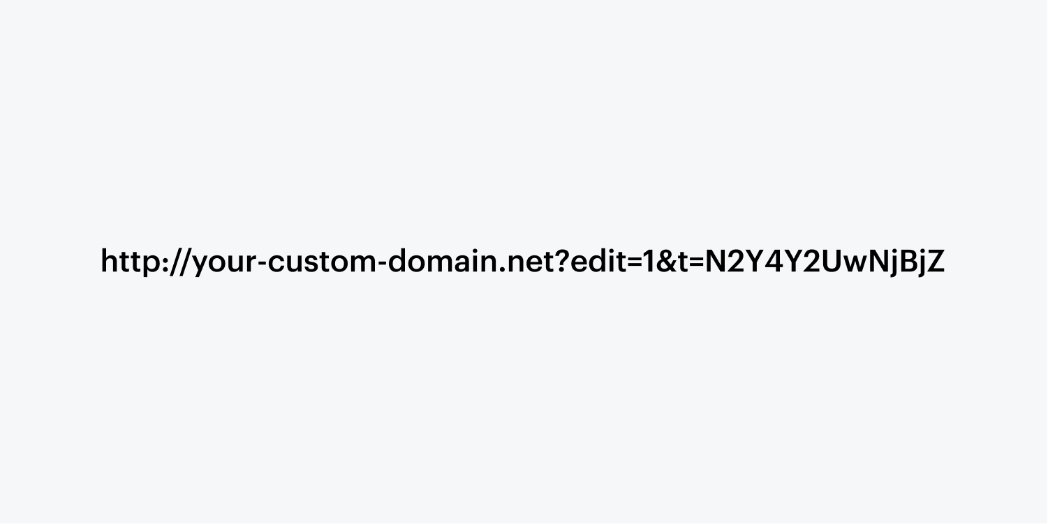 A direct link URL is centered in a gray rectangle frame.