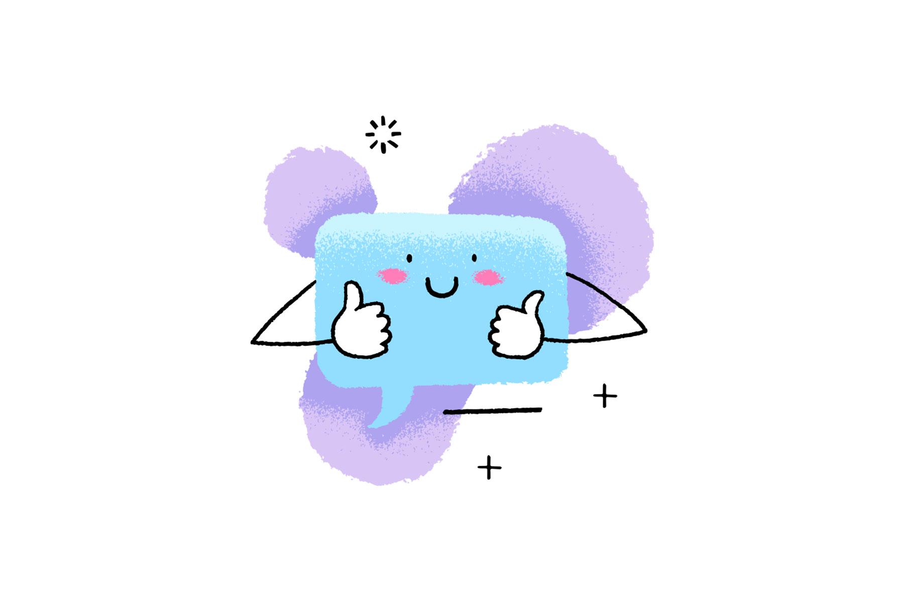 illustration of happy freelancer