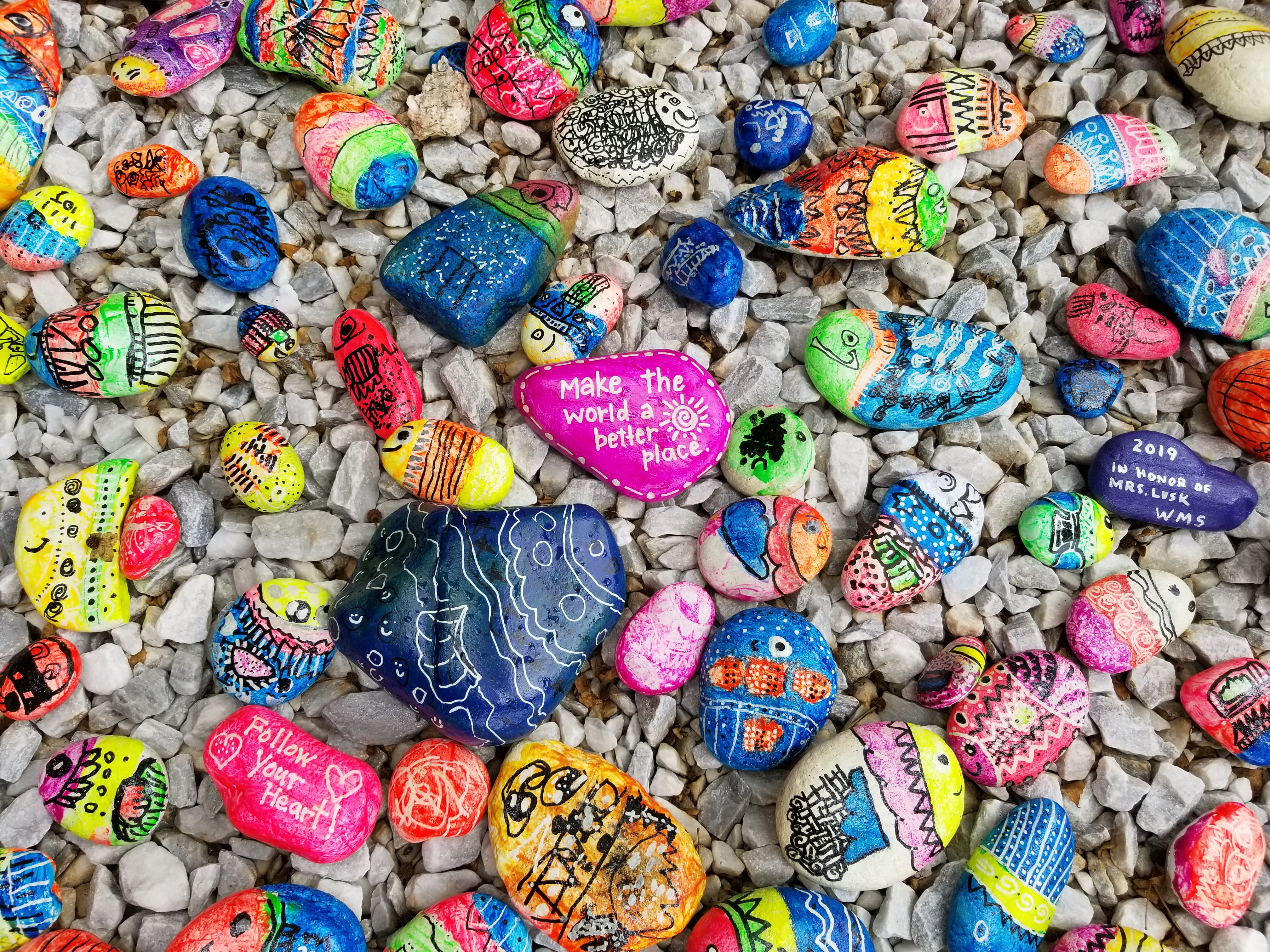 Image of Rocks With Inspirational Messages for Freelancers