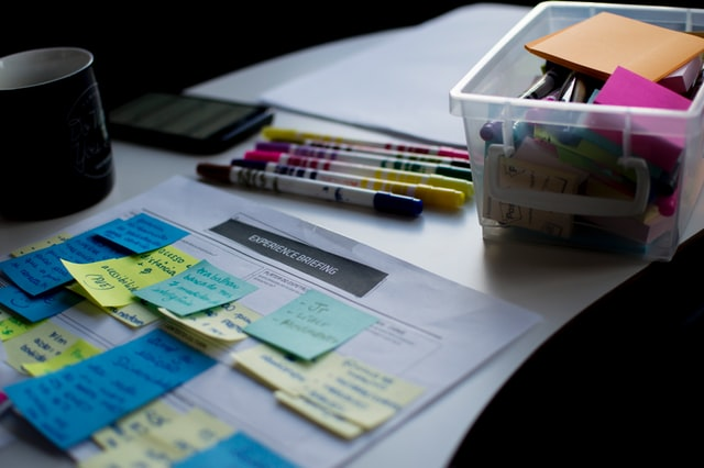 Managing multiple projects and priorities through the use of colorful sticky notes