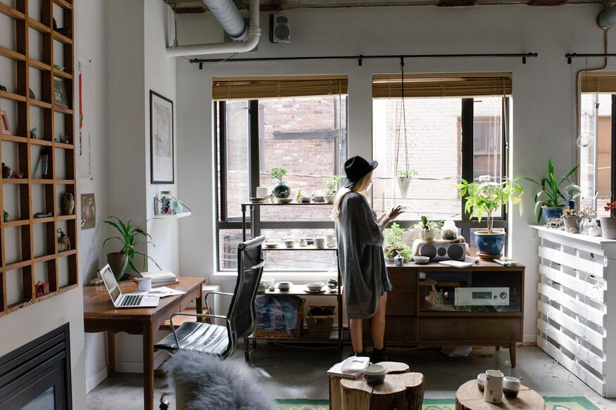 image of freelancer working at home