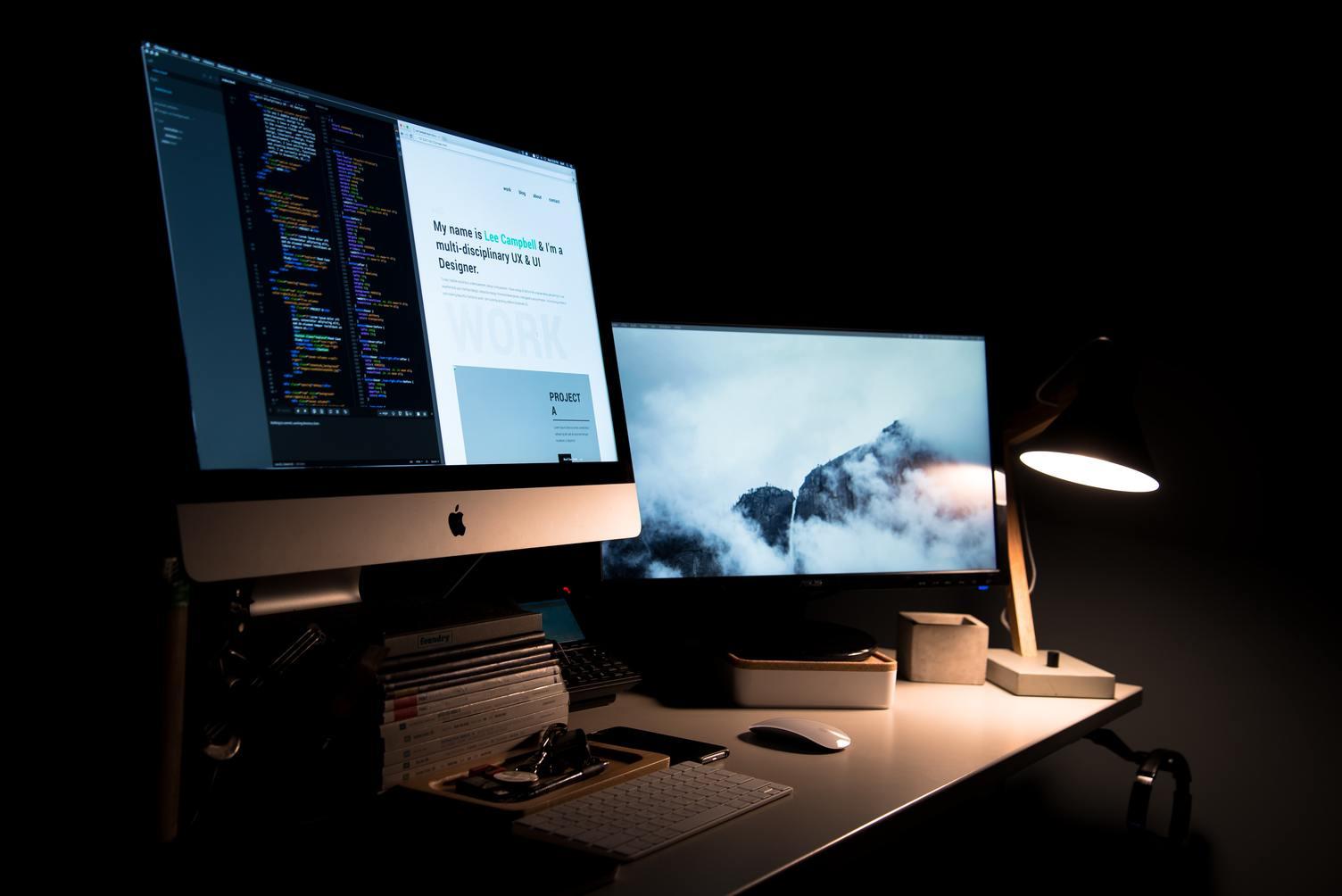 web designer computer screens