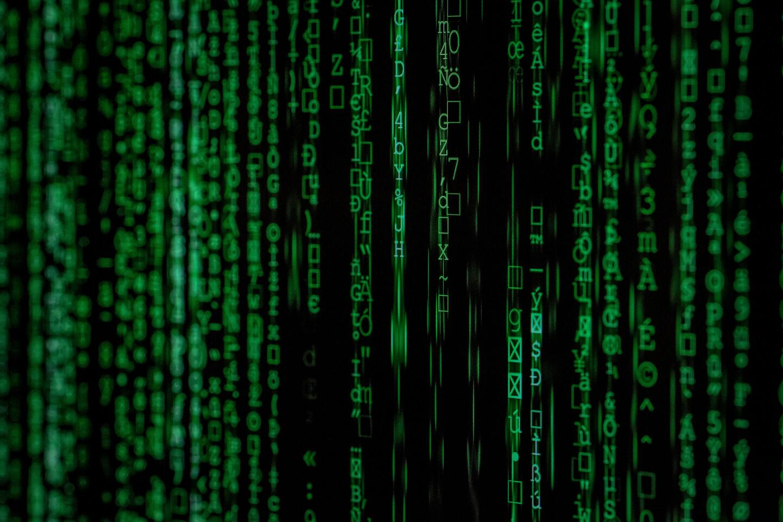 Matrix pattern internet patterns on screen