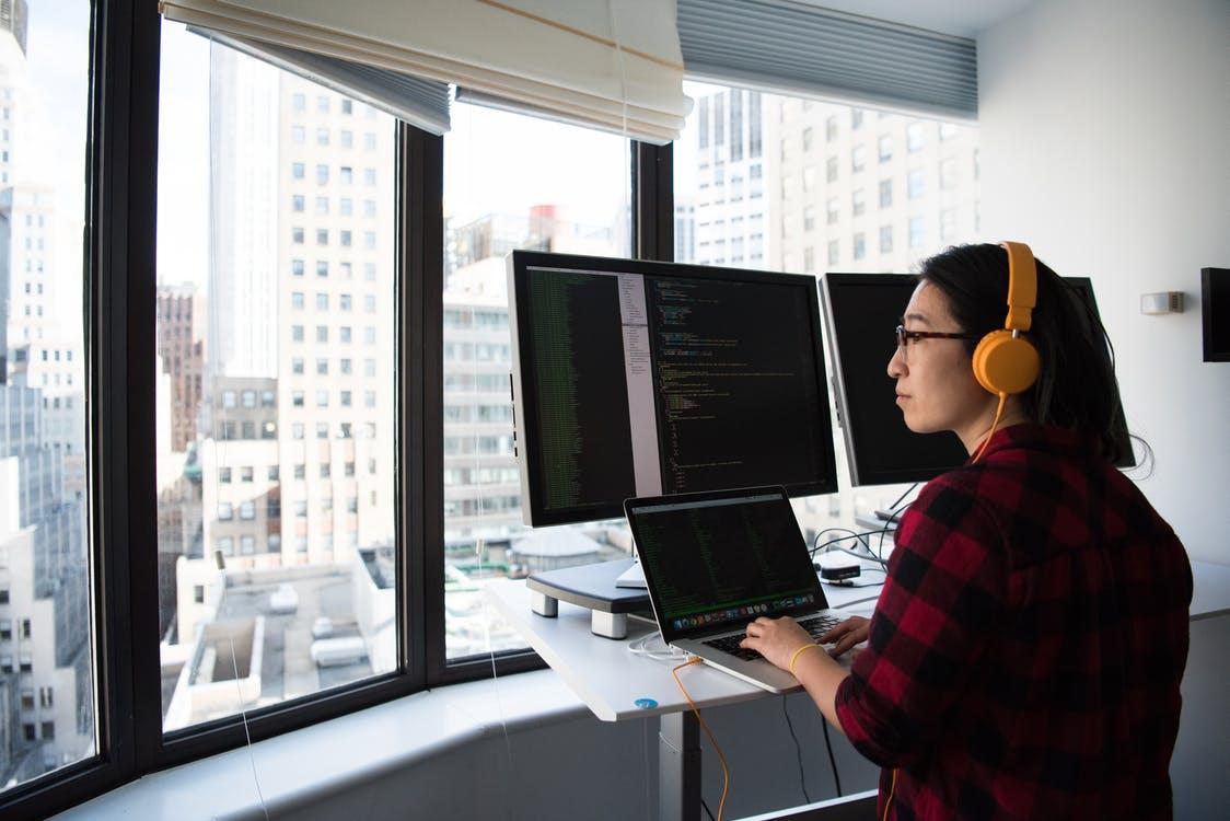 Freelancer managing a business