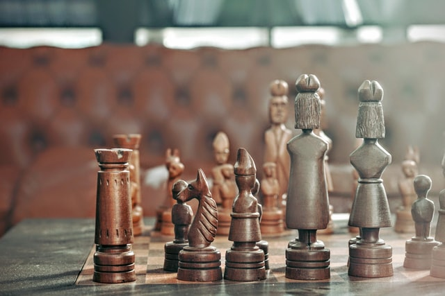 image of chess pieces representing creating strategy with swot