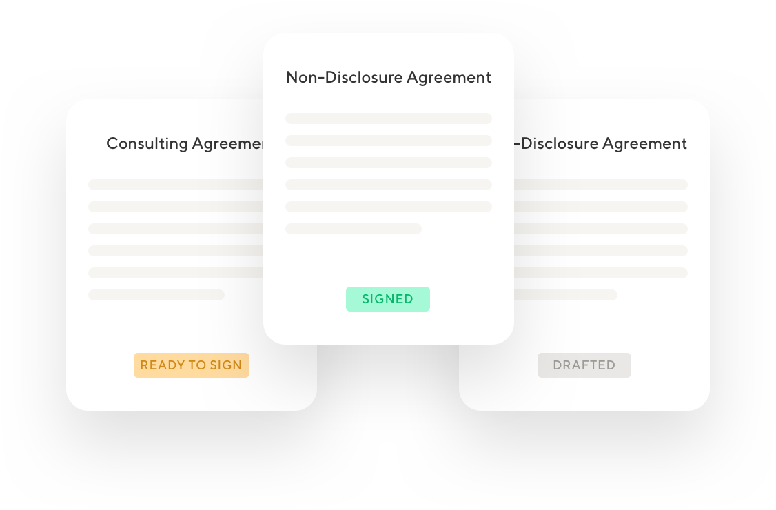 Illustration depicting various contract statuses freelancers can apply
