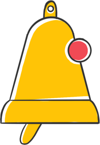 Bell icon with notification