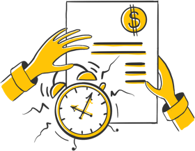 Illustration showing the relationship between time and money