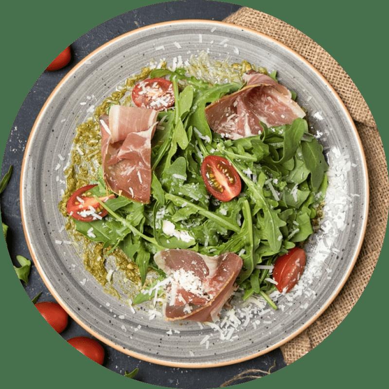salade de tomates et jambon