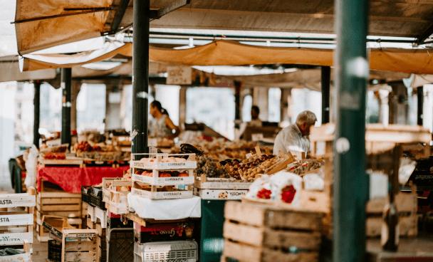 scène de marché