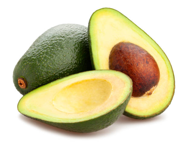 avocado sliced avocado path isolated avocada stock pictures, royalty-free photos & images